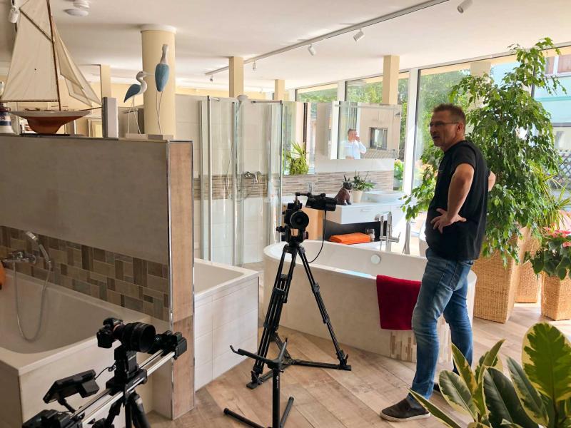 Dreharbeiten Innenaufnahmen | Videoproduktion Sachsen